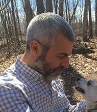 Jonathan Kramnick with dog